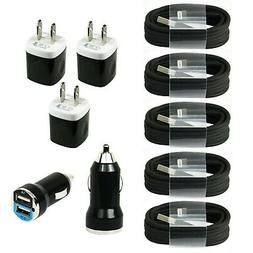 5x Fast USB Cables+Wall & Car Chargers for iPhone 11 XS XR X