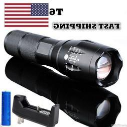 t6 rechargeable flashlight tactical xml