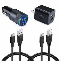 Type C Car Charger, Dual Port Wall Charger +Car Charger