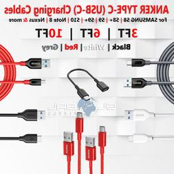 ANKER Type C USBC Braided Cable 3FT/6FT/10FT Samsung S8 S9 P