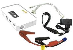 LifeBox Ultra Charge Power Bank and Car Jump Starter - White