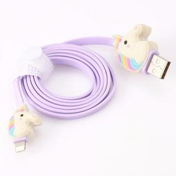Unicorn USB Cable Line Charger Smart Phone Car Rainbow Cord