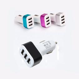 Universal USB Car Charger Triple 3 Port Adapter 2A 2.1A For