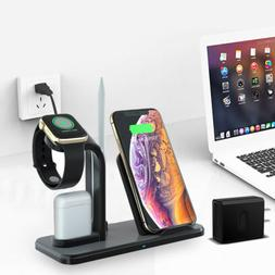 US 3in1 Qi Wireless Charger Dock Stand For Apple Watch AirPo