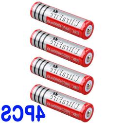 USA 4X 18650 Battery 6000mAh Rechargeable Charger For Flashl