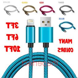 USB Braided Cord For iPhone 6S 7 8 Plus X Xs 11 Pro Charger