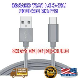 USB-C Bulk USB C Cable 3ft Fast Charger USBC Braided Fast US