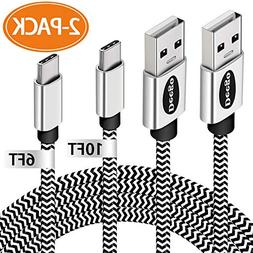 USB Type C Cable,Extra Long USB C Fast Charger Cable,Durable