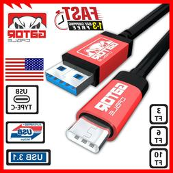 USB-C 3.1 Fast Charging Data Sync Charger Cable Samsung S8 S