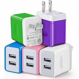 USB Charger, Eversame 2-Port Wall Plug Adapter, 3.1A Chargin