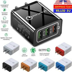 USB Quick Fast Charger Hub Wall Charger Power Adapter For iP