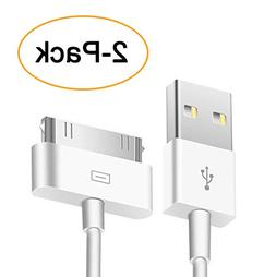 Trenro 2pcs 30 Pin USB Sync Charging Cable Cord Replacement