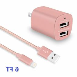 USB travel wall charger and USB cable, fast changer,dual por