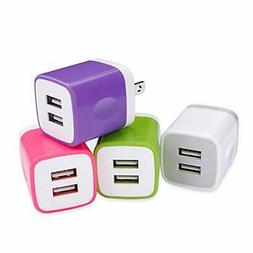 USB Wall Charger, Ououdee 4-Pack 2.1A Power