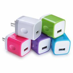 USB Wall Charger, Sicodo 5-Pack Universal 1A Home Travel Qui