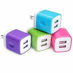 USB Wall Charger,USB Cubes,Sicodo 4-Pack