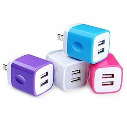 USB Wall Charger, USB Cubes, Sicodo 4-Pack