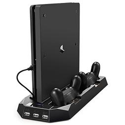 Pecham Vertical Stand for PS4 Slim / PS4 with Cooling Fan, D