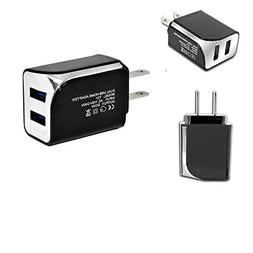 Wall Travel Adapter 2 USB Ports 5V - 2.1A \ USB Wall Charger