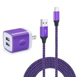 Wall Charger Dual Port Adapter with 6ft USB C Cable, Kakaly