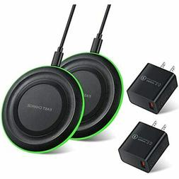 Wireless Charger With QC 3.0 Adapter  7.5W Compatible IPhone