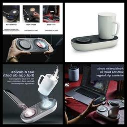 Wireless Qi-Certified Fast Charger with Mug Warmer/Drink Coo
