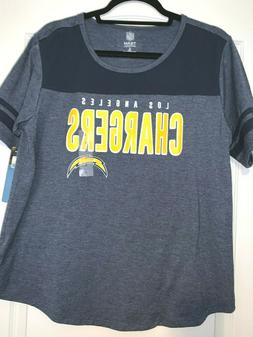 WOMENS TEE SHIRT TOP-NFL TEAM APPAREL-LOS ANGELES CHARGERS-C