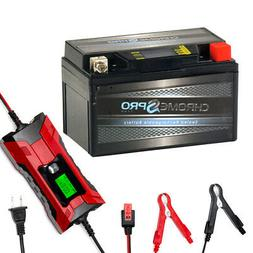 YTZ10S iGel Powersport Battery with 2/4AMP Smart Battery Cha